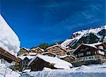 Chalets und Hotels, Wengen, Berner Oberland, Schweizer Alpen, Schweiz, Europa