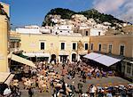 La Piazzetta, ville de Capri, Capri, Campanie, Italie, Europe