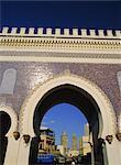 Bab Boujloud (Bab Bou Jeloud), Blue Gate, Fes (Fez), Maroc