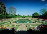 Jardin en contrebas, Kensington Gardens, Kensington, Londres, Royaume-Uni, Europe