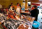 Marché aux poissons, Marsala, île de Sicile, Italie, Europe