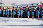 Stilt dancers, New Year celebrations, China, Asia