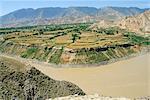 Hwang Ho, le fleuve jaune, dans la Province de Qinghai, Chine
