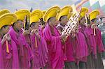 Nouvel an (Losar) célébrations, monastère de Labrang, Gansu province, Chine, Asie