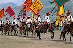 Ouverture de parade, Festival équestre de Yushu, Province de Qinghai, Chine, Asie