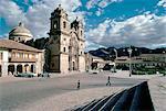 Au début du XVIIe siècle cathédrale, Cuzco, UNESCO World Heritage Site, Pérou, Amérique du Sud