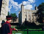 La tour blanche, tour de Londres, Site du patrimoine mondial de l'UNESCO, Londres, Royaume-Uni, Europe