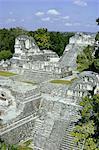 Nord Acropole, Tikal, Guatemala, UNESCO World Heritage Site, l'Amérique centrale