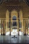 Architecture arabo-andalouse de la Cour des Lions, l'Alhambra, Grenade, Andalousie (Andalousie), Espagne, Europe