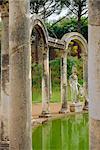 Villa, Canal de Canopus, Tivoli, Latium, Italie, Europe Hadrien