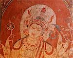 Detail of mural or fresco, Kubiaukgyi (Gubyaukgyi) Buddhist temple, Bagan (Pagan), Myanmar (Burma), Asia