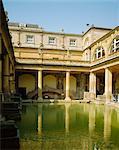 Le bains romains, Bath, Avon, Angleterre, RU