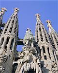 L'architecture de Gaudi, La Sagrada Familia, Barcelona, Catalunya (Catalogne) (Catalunya), Espagne, Europe