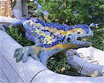 Gaudi Architektur, Parc Güell, UNESCO Weltkulturerbe, Barcelona, Katalonien (Cataluna), Spanien, Europa