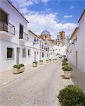 Église et rue d'Altea, Valencia, Espagne, Europe