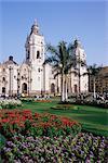 Exterior of the Monasterio de San Francisco, a Christian monastery, Lima, Peru, South America