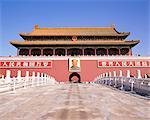 Portrait of Chairman Mao, Gate of Heavenly Peace (Tiananmen), Tiananmen Square, Beijing, China, Asia