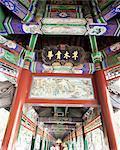 Le Long Corridor (Changlang), décoré de 700 m de scènes mythiques, le Palais d'Eté, patrimoine mondial de l'UNESCO, Beijing, Chine, Asie