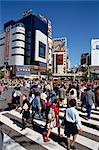 Gens sur le franchissement routier en Asie région, Tokyo, Japon, Shibuya-Ku