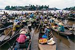 Morning floating market, Phung Heip, Mekong Delta, Vietnam