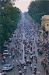 Busy centre ville rue, Ho Chi Minh ville (Saigon), Viêt Nam, Indochine, Asie