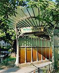 Métropolitain (Metro) station entrée, Paris, France, Europe