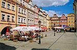 Ville place, Jelenia Gora, Silésie, Pologne, Europe