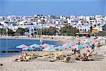 Agios Georgios beach, île de Naxos, Chora, Cyclades, Grèce, Europe