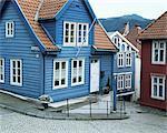 Wooden houses in central Bergen, Bergen, Western Fjords, Norway, Scandinavia, Europe