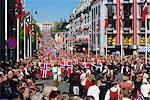 Vue sur le Palais Royal, Norwegian National jour (17 mai) Oslo (Norvège), Scandinavie, Europe