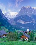 Grindelwald et la face nord de l'Eiger, région de la Jungfrau, Suisse