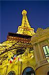 Mock Eiffel Tower, Paris Casino, Las Vegas, Nevada, United States of America, North America