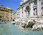 De style baroque, la fontaine de Trévi (Fontana di Trevi), Rome, Lazio, Italie, Europe