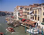 The Grand Canal from the Rialto Bridge, Venice, Veneto, Italy, Europe