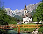 Church at Ramsau, Bavaria, Germany, Europe