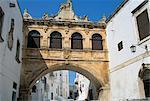 Baroque archway, Ostuni, Puglia, Italy, Europe