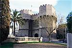 Le XIVe siècle ville porte, tours Serranos, Valence, Espagne, Europe