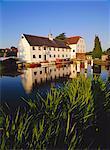 Hambleden Mill on the River Thames, Buckinghamshire, England, United Kingdom, Europe