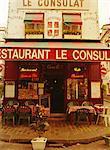 Café restaurant, Montmartre, Paris, France, Europe
