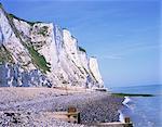 St. Margaret à Cliffe, falaises blanches de Douvres, Kent, Angleterre, Royaume-Uni, Europe