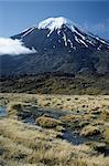 Volcan en sommeil, Mont Ngauruhoe, Parc National de Tongariro, patrimoine mondial de l'UNESCO, Taupo, South Auckland, North Island, Nouvelle-Zélande, Pacifique
