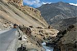 Route Srinagar-Leh dans la Gorge d'yoboua, de Lamayuru jusqu'à la vallée de l'Indus, Ladakh, Inde, Asie