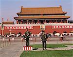 Porte de céleste la paix, la place Tian An Men, Beijing, Chine, Asie