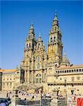 Saint Jacques de Compostelle, cathédrale, Galice, Espagne, Europe