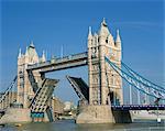 Tower Bridge open, London, England, United Kingdom, Europe