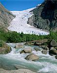 Briksdal glacier, Sogn and Fjordane, Norway, Scandinavia, Europe
