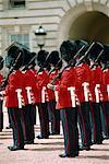 Changement de la garde, Buckingham Palace, Londres, Royaume-Uni, Europe