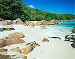 Plage de Anse Lazio, Praslin island, Seychelles, océan Indien, Afrique