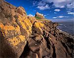 Lindisfarne Schloß, Holy Island, Northumberland, England, Vereinigtes Königreich, Europa
