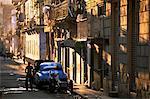 Street scene in evening light, Havana, Cuba, West Indies, Central America